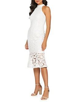 da59029ce5e QUICK VIEW. QUIZ. Halter Lace Trumpet Dress