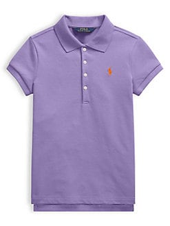 d04cd7055 Product image. QUICK VIEW. Ralph Lauren Childrenswear. Girl s Stretch Cotton  Mesh Polo Shirt