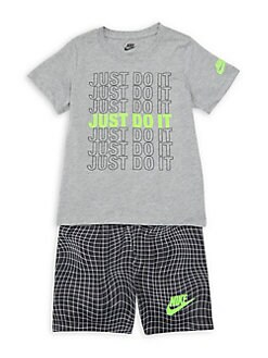 489a7d636f Little Boy's 2-Piece Slogan Tee and Shorts Set BLACK. QUICK VIEW. Product  image
