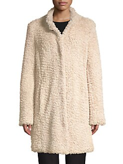 d8f839565a27 Faux-Fur Teddy Jacket RUM RAISIN. QUICK VIEW. Product image