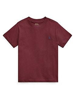 c8e0fa5e9 Little Boy's Cotton Jersey Crewneck Tee RED. QUICK VIEW. Product image.  QUICK VIEW. Ralph Lauren Childrenswear