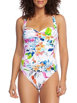 6f8b777b2f QUICK VIEW. La Blanca. Hyper Tropical Ruched One-Piece Swimsuit