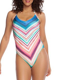 f70c0d0cc5 Solar Stripe One-Piece Swimsuit MULTI. QUICK VIEW. Product image