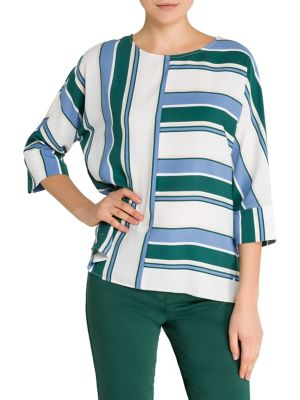 Image of Color Love Striped Blouse