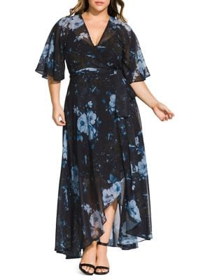 Image of Plus Bonsai Floral Maxi Dress