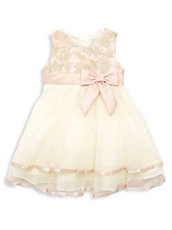 5319ea41fc28 Little Girl's Embroidered Tiered Dress GOLD. QUICK VIEW. Product image