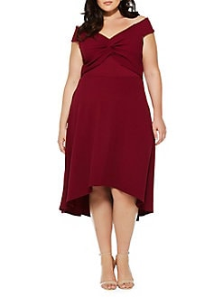53c19cdc3c6 Product image. QUICK VIEW. QUIZ CURVE. Plus Twist-Front High-Low Dress