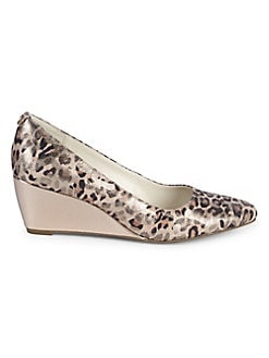 286cd6097045 QUICK VIEW. Anne Klein. Isley Leopard-Print Leather Wedge Espadrilles