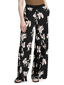 ac0e3b59655435 Floral Printed Wide-Leg Pants BLACK. QUICK VIEW. Product image