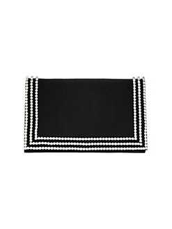 22e11e1fafc74 Product image. QUICK VIEW. Nina. Avalyn Crystal-Embellished Satin Clutch