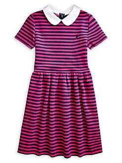 f4e43124965 Product image. QUICK VIEW. Ralph Lauren Childrenswear. Girl's Striped  Cotton-Blend Ottoman Dress