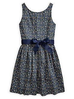 d666a9a27 Product image. QUICK VIEW. Ralph Lauren Childrenswear. Girl's Floral Cotton  Poplin Dress