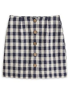 ed7ca8b99 Product image. QUICK VIEW. Mango. Gingham Linen Buttoned Mini Skirt