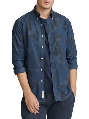 Image of Classic-Fit Camo Shirt