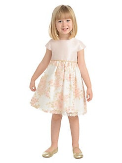 2fdd25b1920e78 Little Girl's Embroidered Floral Dress PINK. QUICK VIEW. Product image