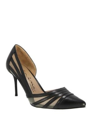 Day Mesh-Accented Leather D Orsay Pumps by Nina