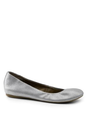 Felicity Metallic Leather Flats by G.H. Bass