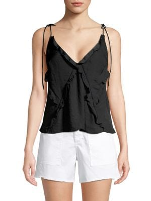 Image of Tie-Strap Ruffle Camisole