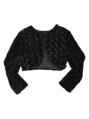 Image of Girl's Faux Fur Bolero