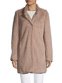434bab73d Faux-Fur Teddy Coat TRUFFLE. QUICK VIEW. Product image