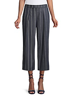 ef51ab34ace0 QUICK VIEW. Donna Karan. Striped Wide-Leg Cropped Pants