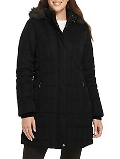 b093452cd Product image. QUICK VIEW. Weatherproof. Faux Fur-Trimmed Hooded Puffer Coat