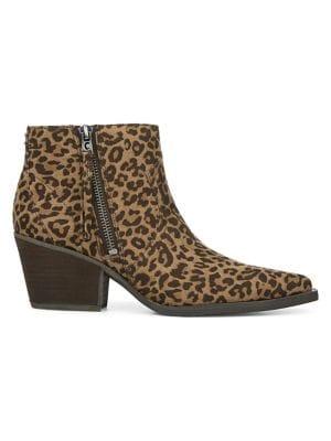 Image of Whistler Leopard-Print Zip Booties