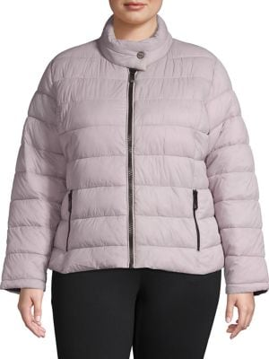 Image of Plus Super Soft Packable Quilted Coat
