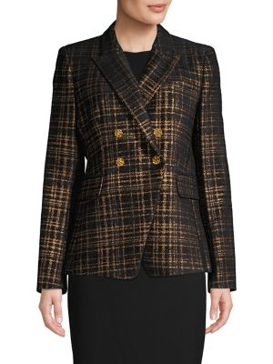 Image of Jezebel Metallic Tweed Double-Breasted Blazer