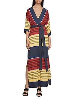 cc8d7e3e3 QUICK VIEW. BCBGMAXAZRIA. Striped Faux-Wrap Maxi Dress