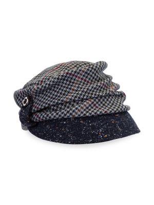 Image of Gathered Soft Plaid Cap