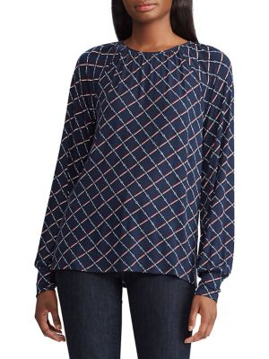 Image of Petite Chain Print Jersey Knit Top