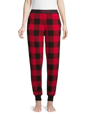 Image of Modern Lounge Gingham Cotton-Blend Pajama Pants