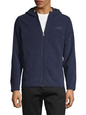 Image of Long-Sleeve Zip-Front Hoodie