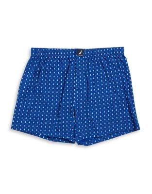 Plaid Cotton Boxer Shorts...