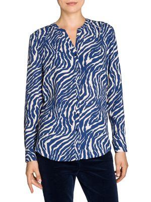 Image of Zebra Printed Blouse