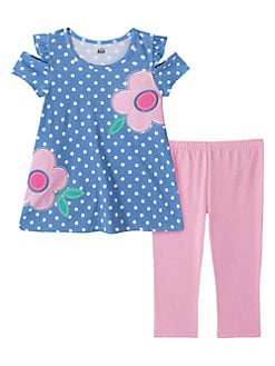 Llttle girls 2 pc set sz 18 /& 24 month brand kids headquarters multicolor
