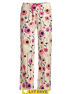 I Love NY New York Lounge Pants Heart Pajama Bottoms Hot Pink