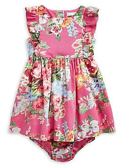 NEW Mini B Baby girls floral dress /& knickers set 9-12 months. summer outfit