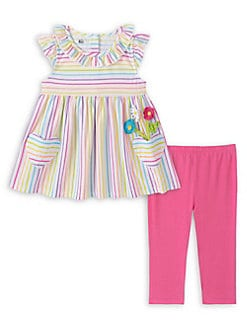 Little Me Baby Girls Lace Mesh Dress and Panty Set