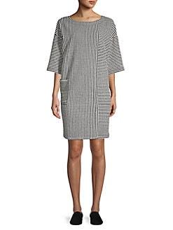 Jones New York Womens Self-Belt Shirt Dress