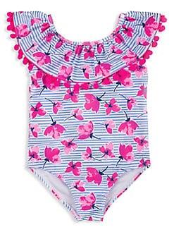 ADIDAS Youth Girl/'s Tie Dye Floral Rashguard Swim Shirt Black 8,10 NEW