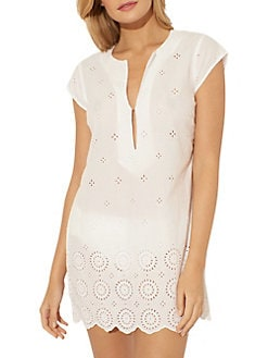 Cole of California Womens Lace Slip X Back Cover Up Dress