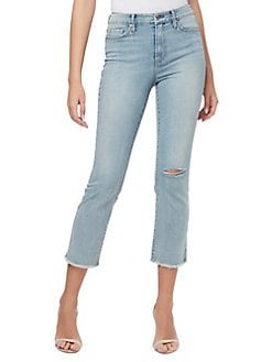 Jessica Simpson Womens Adored High Rise Wide Crop Jean