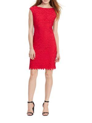 Lace Bateau-Neck Dress by Lauren Ralph Lauren