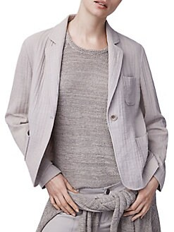 New Look Women/'s Bailey Waterfall Jacket Grey 12