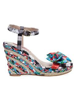 Lord Lace Rhinestone Ankle T-Strap Peep Toe Wedge Heel Dress Sandals