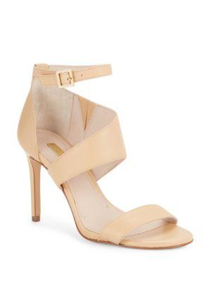 Katrien Leather Stiletto Sandals by Louise et Cie