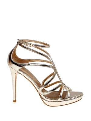 Nicci Metallic Sandals by Belle Badgley Mischka