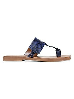 CLEARANCE Blue Pretty flip flops sandals with button detail